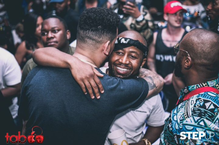 AKA and Cassper Nyovest hug it out.