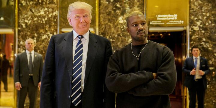 The Kardashian effect? Kanye West looked very cozy as he met with US president-elect Donald Trump. Picture: Twitter