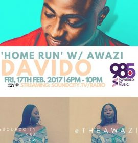 Davido to embark on first major tour in Nigeria this May