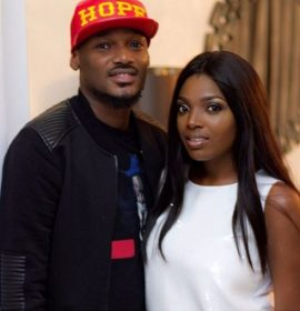 """""""Can I brag a lil on his behalf"""" – Annie Idibia Gushes About 2Face"""