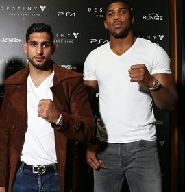 Amir Khan Apologizes To Anthony Joshua For Accusing Him Of Cheating With His Wife