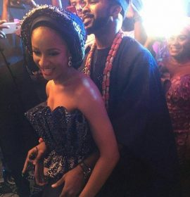 """I am by far the luckiest woman in the world""- Adesua says in Birthday Message To Hubby, Banky W"