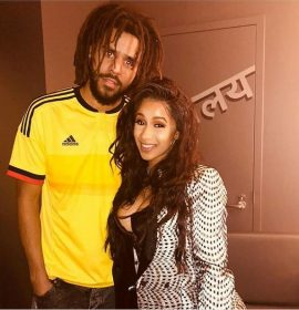 Watch as J. Cole Gives Cardi B some Advice