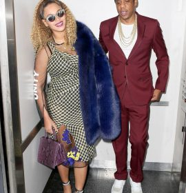 Jay-Z and Beyonce pose for iconic elevator photo while at the movies for his 48th birthday