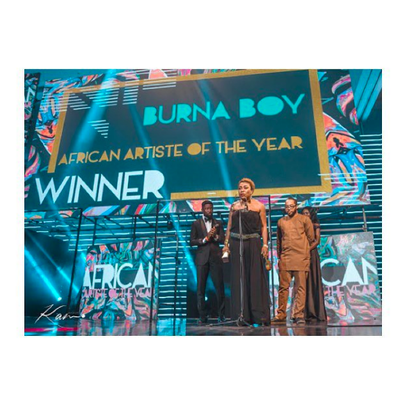 'Mama Burna Boy' is trending following her Soundcity MVP acceptance speech