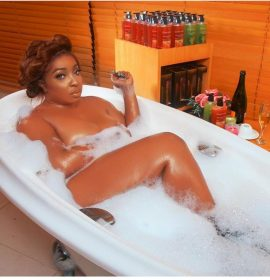 Nigerian actress Anita Joseph goes nude for bathtub photoshoot