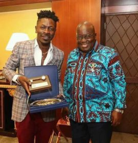 See photos as Shatta Wale finally receives his birthday gift from President Akufo Addo!