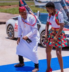 Akothee a.k.a Madam Boss shoot lavish video for Oyoyo featuring Mc Galaxy