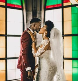 Super Eagles midfielder Wilfred Ndidi wedded his girlfriend in Abuja