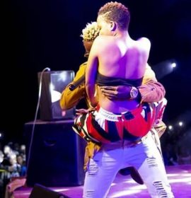 Nandy excites Willy Paul after groping him on stage